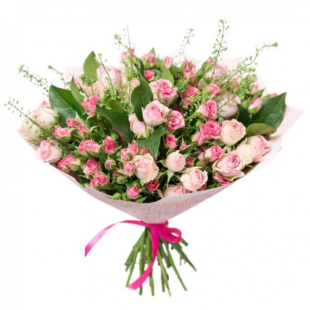 Букет из кустовых роз № 6